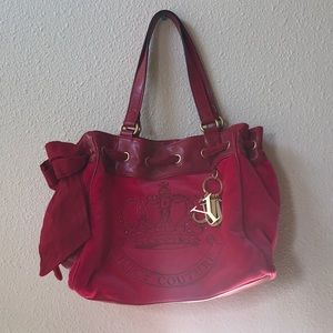juicy couture hot pink tote handbag purse